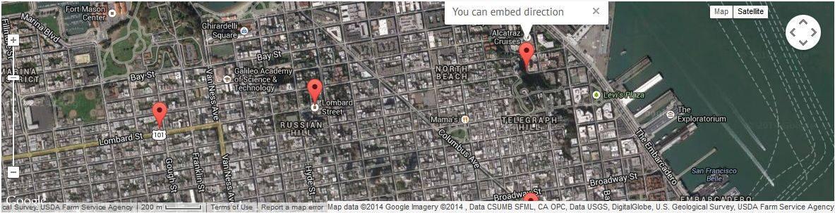 google maps multiple marker